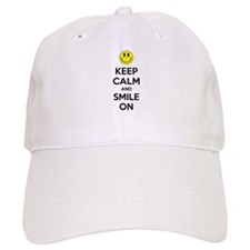 Keep Calm And Smile On Baseball Cap