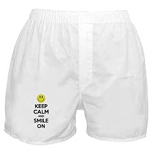 Keep Calm And Smile On Boxer Shorts