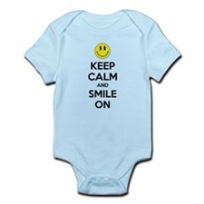 Keep Calm And Smile On Infant Bodysuit