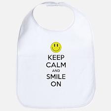 Keep Calm And Smile On Bib