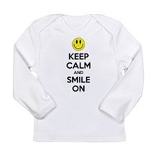 Keep Calm And Smile On Long Sleeve Infant T-Shirt