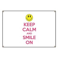 Keep Calm And Smile On Banner