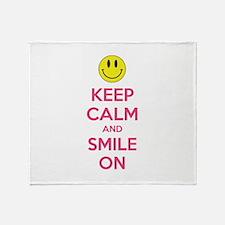 Keep Calm And Smile On Stadium Blanket