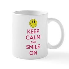 Keep Calm And Smile On Mug