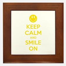 Keep Calm And Smile On Framed Tile