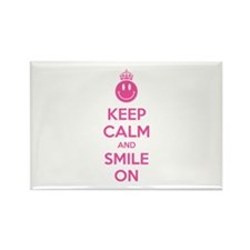 Keep Calm And Smile On Rectangle Magnet