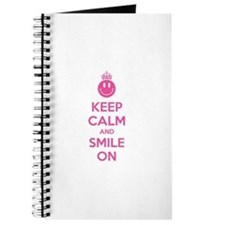 Keep Calm And Smile On Journal