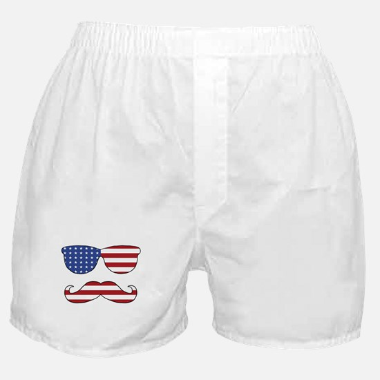 Patriotic Funny Face Boxer Shorts