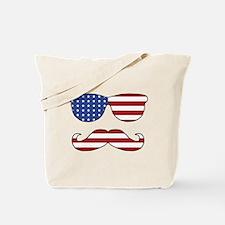 Patriotic Funny Face Tote Bag