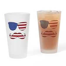 Patriotic Funny Face Drinking Glass