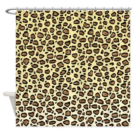 leopard print shower curtain by cutetoboot