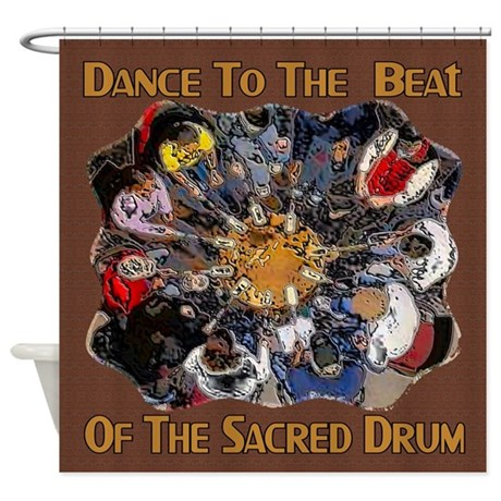 Dance to the Beat Shower Curtain