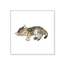 Cat Nap Rectangle Sticker
