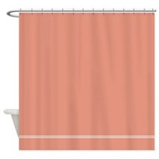 Coral Salmon Pink Shower Curtain