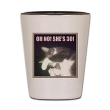 Funny 30th Birthday (Cat) Shot Glass