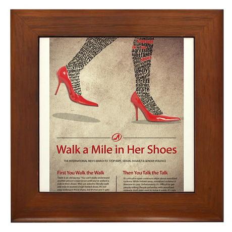 Walk A Mile in Her Shoes Framed Tile