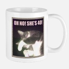 Funny 40th Birthday (Cat) Mug