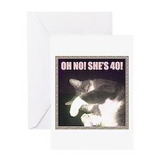 Funny 40th Birthday (Cat) Greeting Card