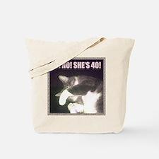 Funny 40th Birthday (Cat) Tote Bag