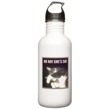 Funny 50th Birthday (Cat) Water Bottle