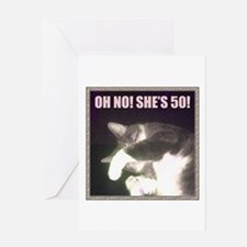 Funny 50th Birthday (Cat) Greeting Card