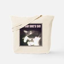 Funny 50th Birthday (Cat) Tote Bag