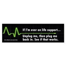 Life Support Bumper Car Sticker