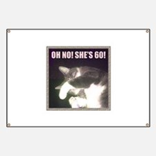 Funny 60th Birthday (Cat) Banner