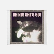 Funny 60th Birthday (Cat) Throw Blanket
