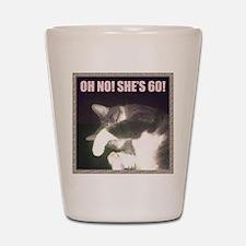 Funny 60th Birthday (Cat) Shot Glass