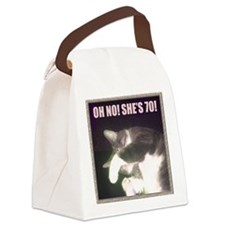 Funny 70th Birthday (Cat) Canvas Lunch Bag