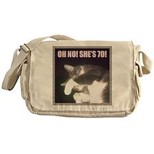 Funny 70th Birthday (Cat) Messenger Bag