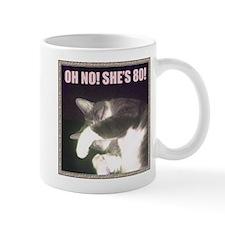 Funny 80th Birthday (Cat) Mug