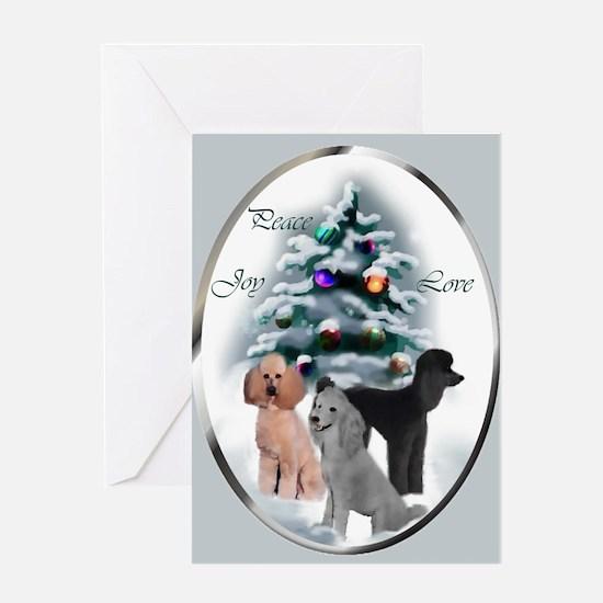 Poodle Christmas Greeting Card
