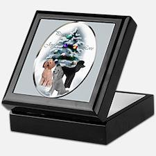 Poodle Christmas Keepsake Box