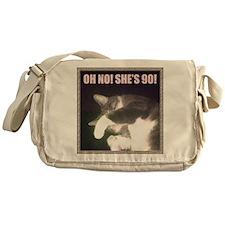Funny 90th Birthday (Cat) Messenger Bag