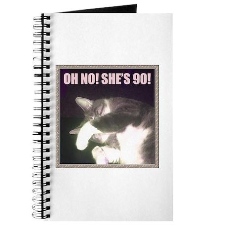 Funny 90th Birthday (Cat) Journal