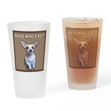 60th Birthday Humor (Dog) Drinking Glass