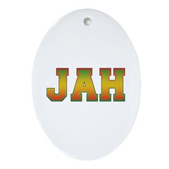 JAH Oval Ornament