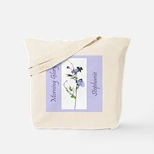 Stephanie's Morning Glory Tote Bag