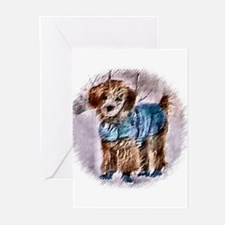 Poodle Christmas Greeting Cards (Pk of 20)