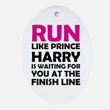 Run For Prince Harry Ornament (Oval)