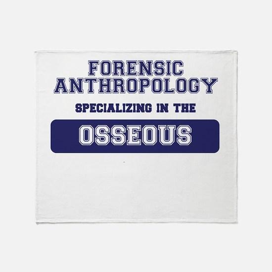Forensic Anthropology Throw Blanket
