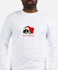 Christmas Border Collie puppy and kitten Long Slee