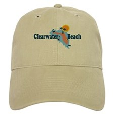 Clearwater FL - Map Design. Baseball Cap