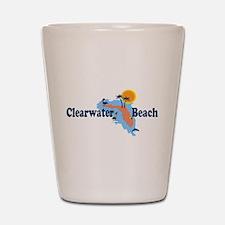 Clearwater FL - Map Design. Shot Glass