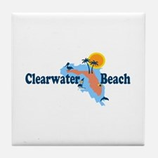Clearwater FL - Map Design. Tile Coaster