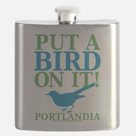 Portlandia Put A Bird On It Flask