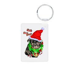 Pug Christmas Keychains