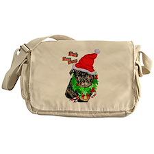 Pug Christmas Messenger Bag